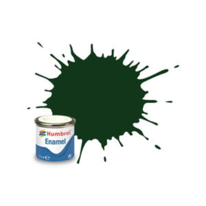 Humbrol 195 Satin Dark Green 14ml Enamel Tinlet