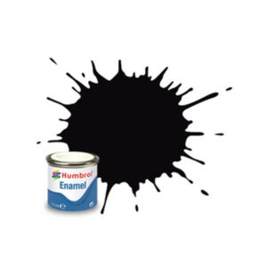 Humbrol 201 Metallic Black 14ml Enamel Tinlet