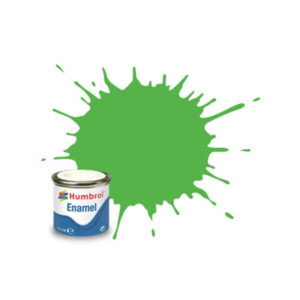 Humbrol 208 Gloss Fluorescent Green 14ml Enamel Tinlet