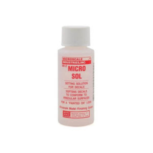 Microscale Micro Sol Decal Softening Solution 1oz Bottle
