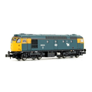 Dapol 2D-028-003 Class 26 26024 BR Blue with Full Yellow Ends Scottie Dog