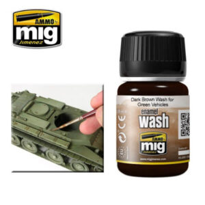 Mig Washes MIG1005 Dark Brown Wash For Green Vehicles