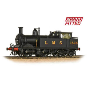 Bachmann 31-741SF Class 1P 1303 LMS Black DCC Sound Fitted