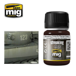 Mig Washes MIG1202 Streaking Grime For Panzer Grey