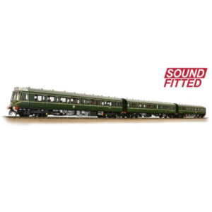Bachmann 35-500SF Class 117 3 Car DMU BR Green with Speed Whiskers DCC Sound Fitted
