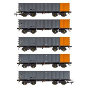 Accurascale ACC2100BSC PTA/JTA+JUA Bogie Tippler Pack British Steel Grey & Orange (Outer)