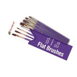 Humbrol AG4305 Flat Brush Set