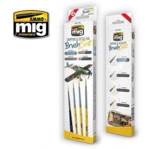 Mig Brushes MIG7603 Chipping & Detail Brush Set