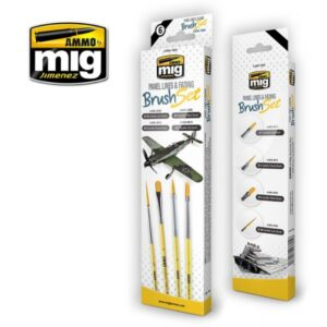 Mig Brushes MIG7605 Panel Lines & Fading Brush Set