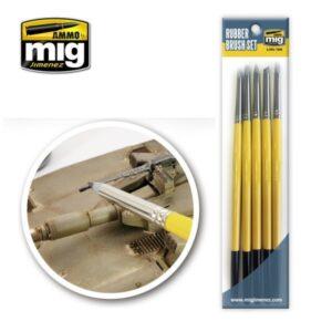 Mig Brushes MIG7606 Rubber Brush Set