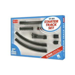 PECO Setrack ST-301 N Gauge Starter Track Set 2nd Radius