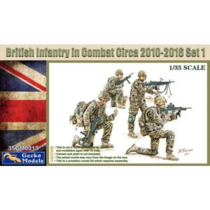 Gecko 35GM0015 British Infantry In Combat 2010-2016 Set 1 1/35 Scale