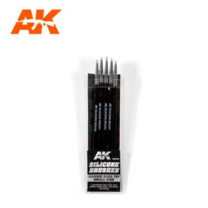 AK Interactive AK9085 Silicone Brushes Medium Tip Small (pack of 5)