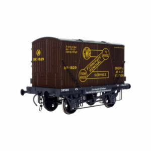 """Dapol 7F-037-003 Conflat H7 GWR grey with BK2 Container in GWR brown """"Furniture Removal"""""""