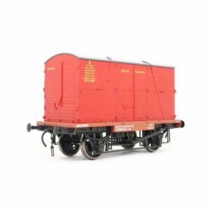 """Dapol 7F-037-006 Conflat A BR Crimson with BD Container """"British Railways"""""""